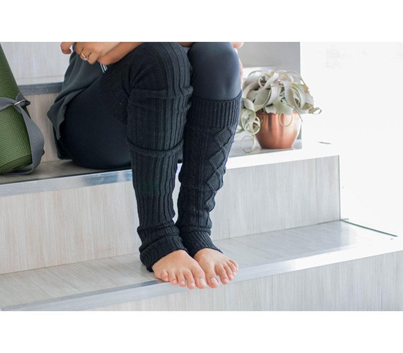 Toesox Beinwärmer Knee High - Charcoal