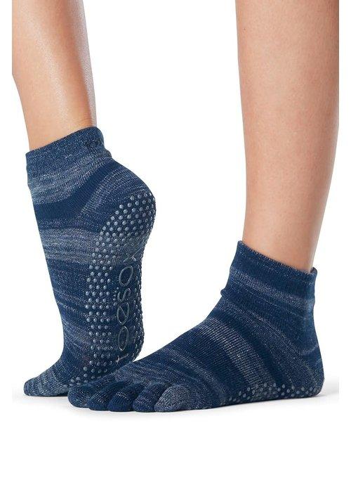 Toesox Toesox Yoga Sokken Enkelhoogte Dichte Tenen - Nebula