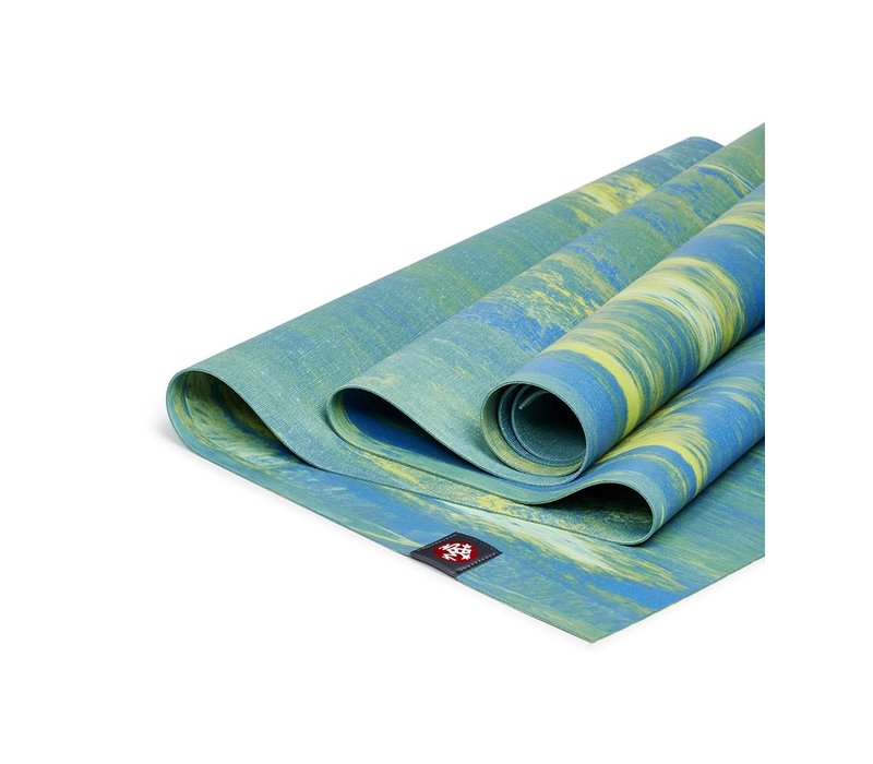 Manduka eKO Superlite Yogamatte 180cm 61cm 1.5mm - Digi Lime Marbled