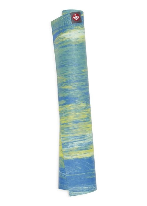 Manduka Manduka eKO Superlite Yogamatte 180cm 61cm 1.5mm - Digi Lime Marbled