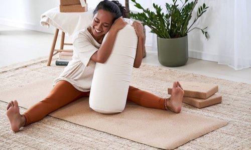 Yoga met een bolster