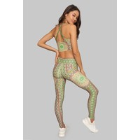 Wolven Ruched Crossover Legging - Fauna