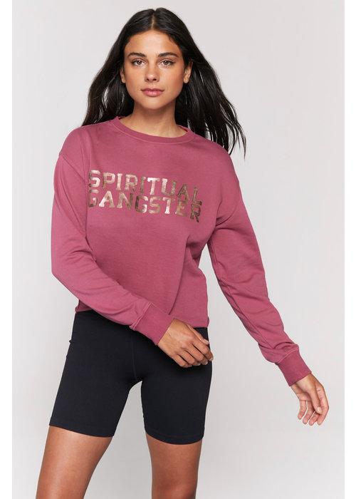 Spiritual Gangster Spiritual Gangster Mazzy Pullover Sweatshirt - Desert Rose