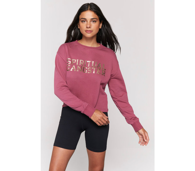 Spiritual Gangster Mazzy Pullover Sweatshirt - Desert Rose