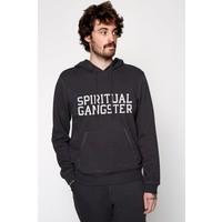Spiritual Gangster Varsity Hoodie - Vintage Black