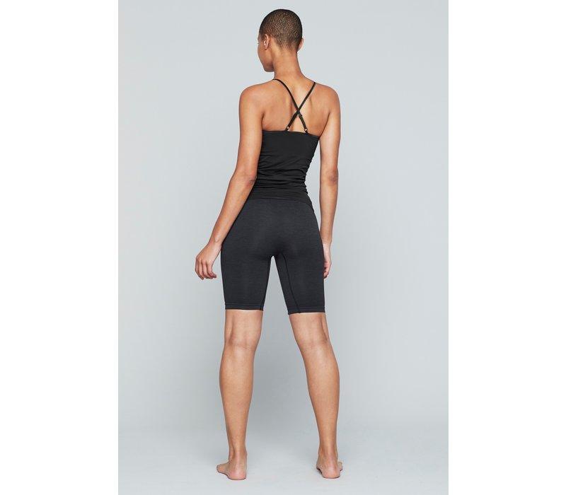 Moonchild Yoga Wear Seamless Biker Shorts - Onyx Black