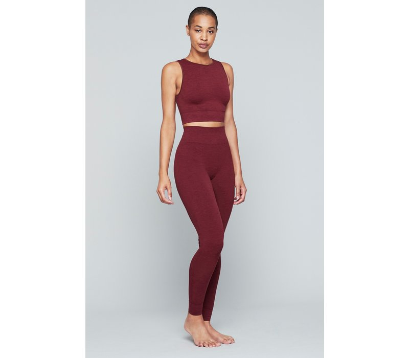 Moonchild Yoga Wear Seamless Leggings - Deepest Red