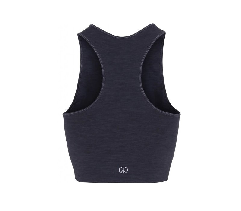 Moonchild Yoga Wear Seamless Crop Top - Onyx Black