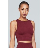 Moonchild Yoga Wear Seamless Crop Top - Deepest Red