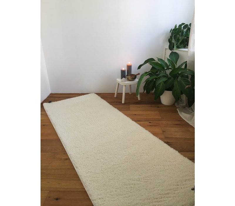 Yoga mat Virgin Wool 200cm 75cm 2cm