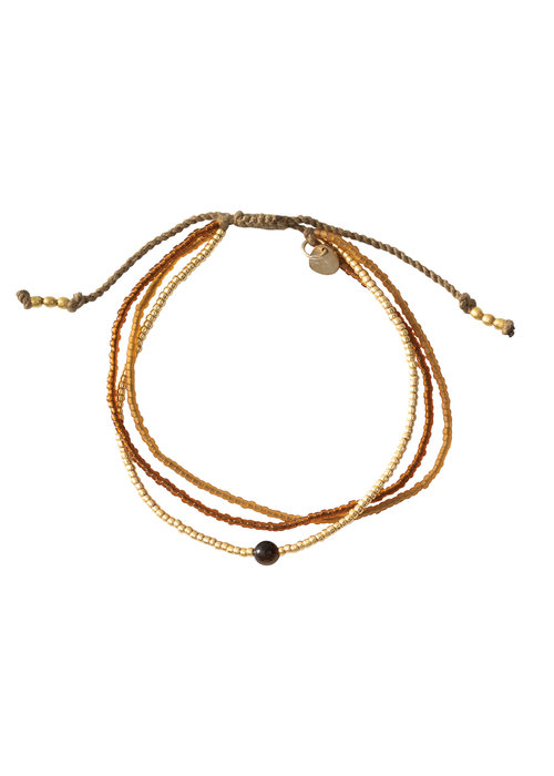 A Beautiful Story A Beautiful Story Bloom Gold Bracelet - Tiger Eye