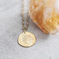 A Beautiful Story Rosary Goldene Halskette Löwenzahn - Citrien