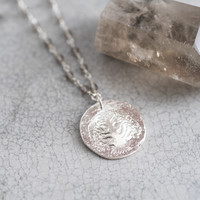 A Beautiful Story Rosary Silver Necklace Tree - Smokey Quartz