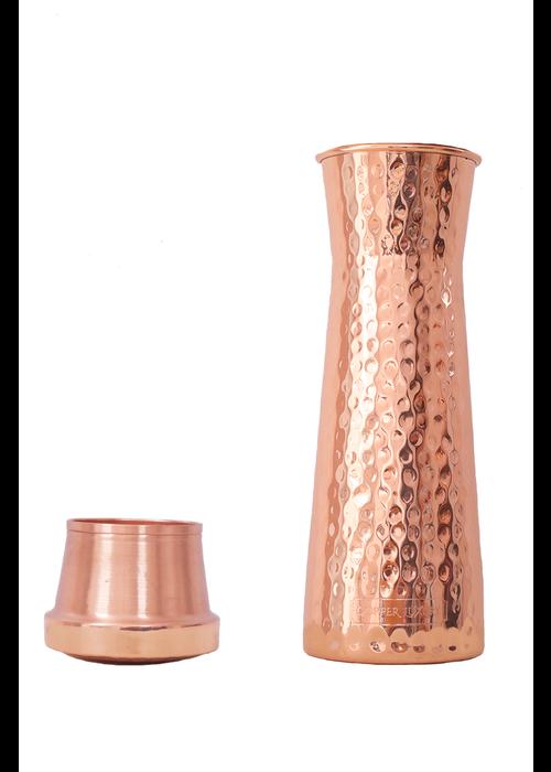 Forrest & Love Forrest & Love Kupferwasserkaraffe 1200ml - Luxury Gehämmert
