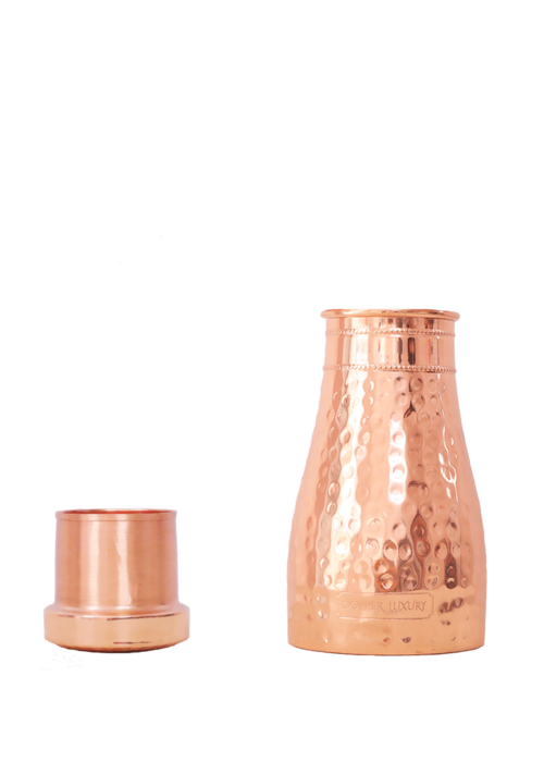 Forrest & Love Forrest & Love Kupferwasserkaraffe 1000ml - Luxury Gehämmert
