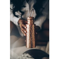 Forrest & Love Koperen Drinkfles 1000ml - Luxury Beau Hammered
