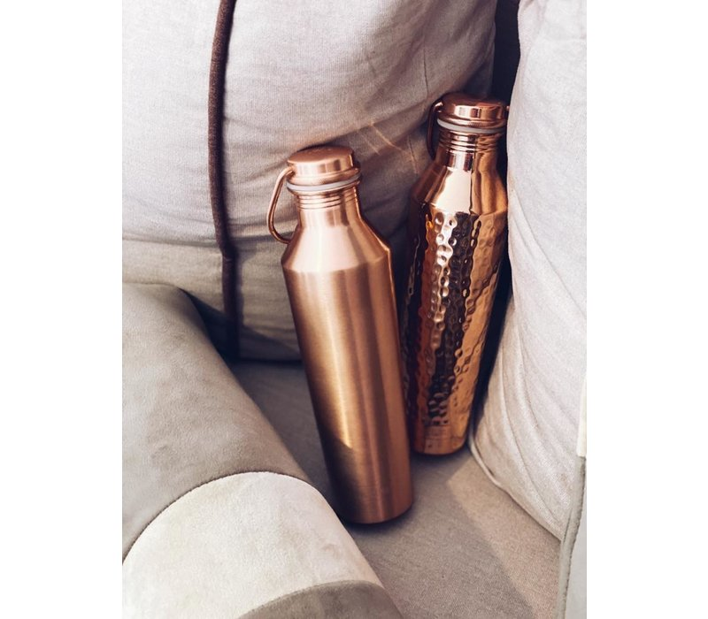 Forrest & Love Copper Bottle 850ml - Luxury Crystal Hammered