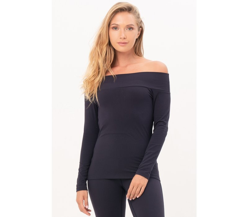 House of Gravity Off-Shoulder Top - Deep Blue Moonstone