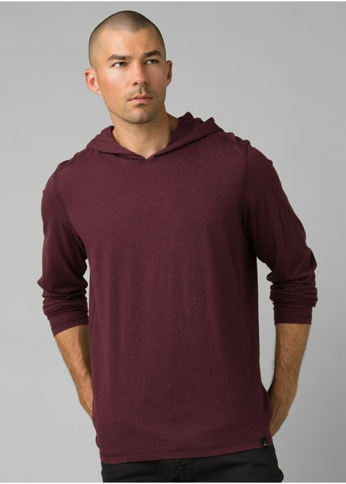 PrAna PrAna Hooded T-Shirt - Raisin Heather