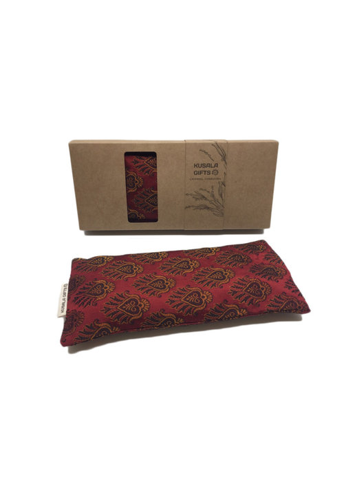 Kusala Kusala Eye Pillow Silk - Memphis Bordeaux