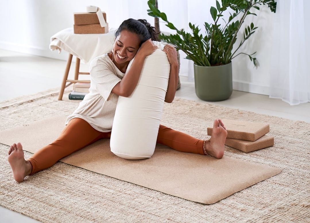 Yoga with a bolster
