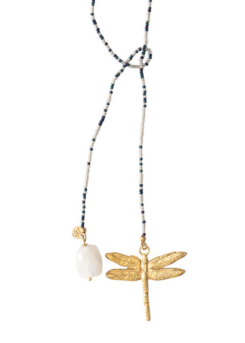 A Beautiful Story A Beautiful Story Nova Golden Necklace - Moonstone