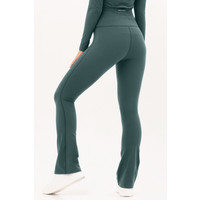 House of Gravity Flared Tights - Emerald Green