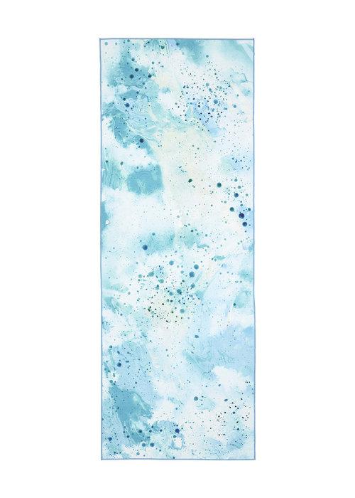 Manduka Manduka eQua Handdoek 182cm 67cm - Splatter Splash Blue