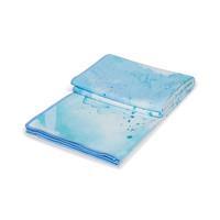 Manduka eQua Handdoek 182cm 67cm - Splatter Splash Blue