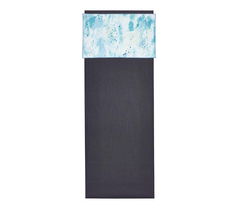 Manduka eQua Handdoek 40cm 67cm - Splatter Splash Blue