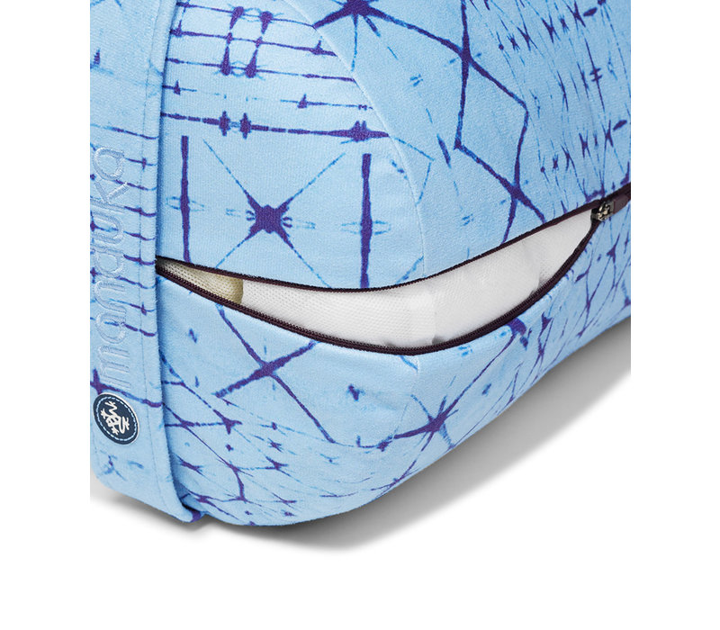 Manduka Yoga Bolster Runde - Star Dye Clear Blue