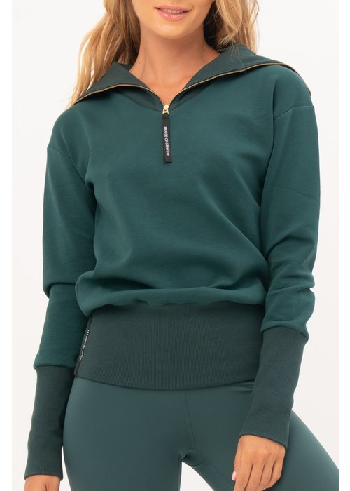 House Of Gravity House of Gravity Turtle Neck Sweater - Emerald Green