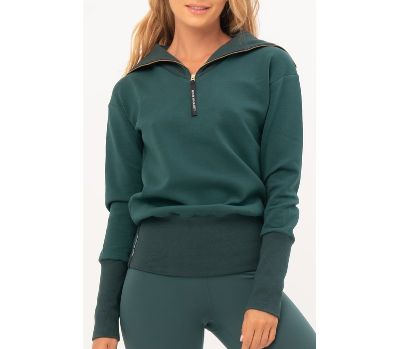 House of Gravity Turtle Neck Sweater - Smaragdgrün