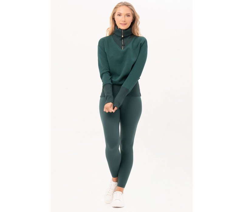 House of Gravity Turtle Neck Sweater - Emerald Green