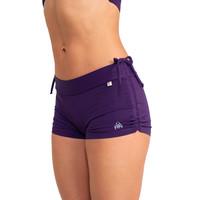 Shakti Activewear Side String Shorts - Dark Purple
