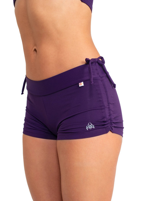 Shakti Activewear Shakti Activewear Side String Shorts - Dark Purple