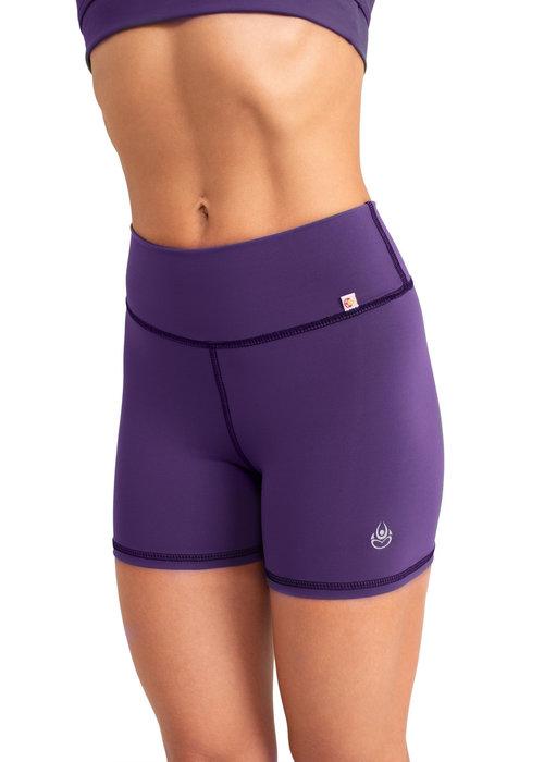 Shakti Activewear Shakti Activewear Mid Rise Shorts - Eggplant