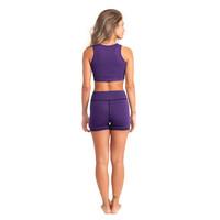 Shakti Activewear Mid Rise Shorts - Eggplant