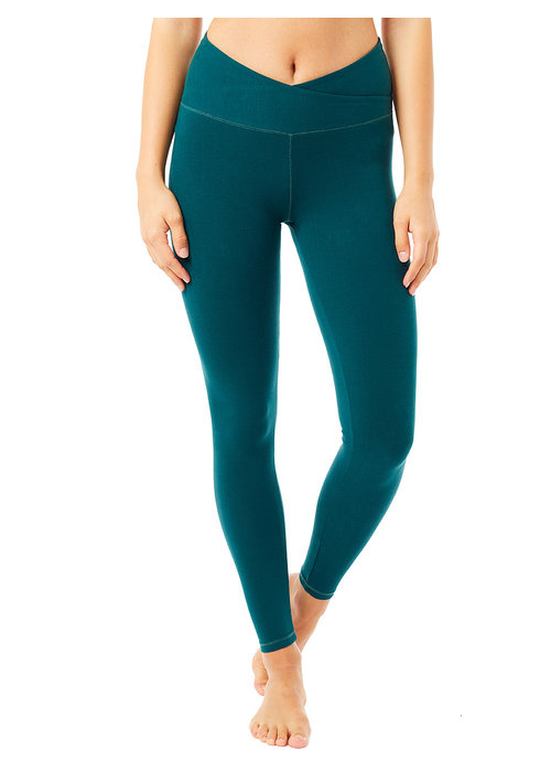 Mandala Mandala High Rise Wrap Legging - Jungle