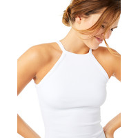 Mandala Ribbed Halterneck - Weiß