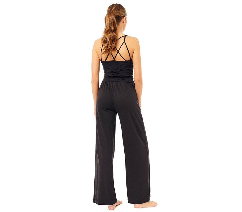 Mandala Cable Yoga Bra - Black