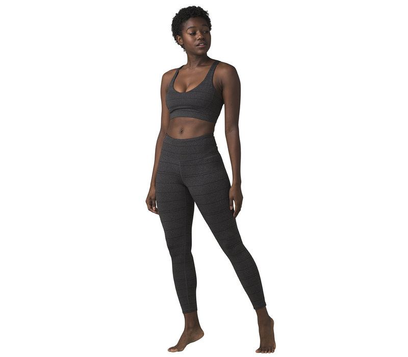 PrAna Everyday Bra - Charcoal Stripe