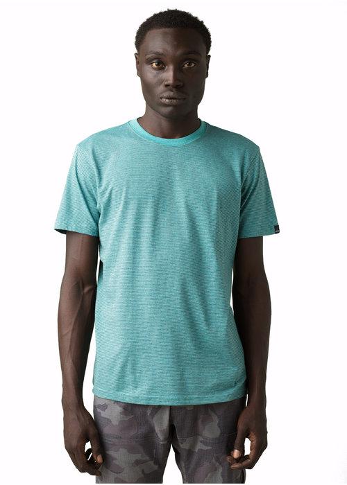 PrAna PrAna Crew T-Shirt - Azurite Stripe
