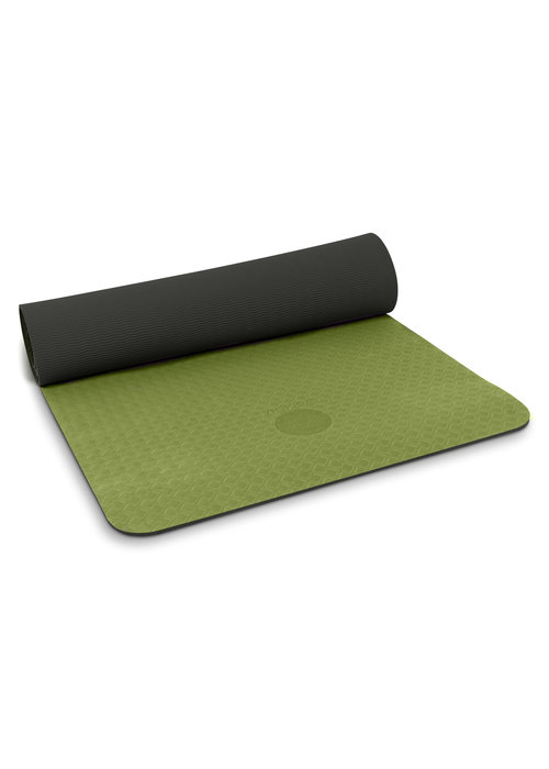 Yogisha Yogisha Soft & Light Yoga Mat 183cm 60cm 6mm - Olive Green / Black