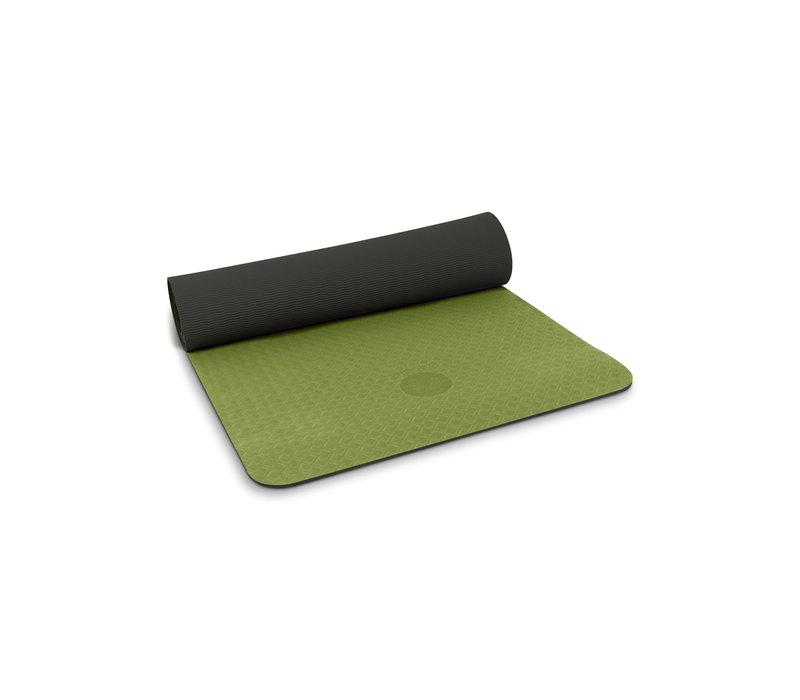 Yogisha Soft & Light Yogamat 183cm 60cm 6mm - Olijfgroen / Zwart