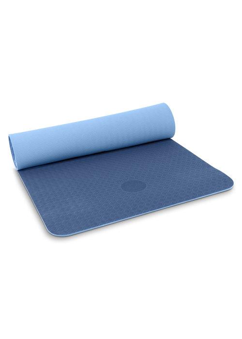 Yogisha Yogisha Soft & Light Yogamat 183cm 60cm 6mm - Donkerblauw/Lichtblauw