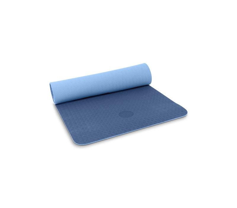 Yogisha Soft & Light Yogamat 183cm 60cm 6mm - Donkerblauw/Lichtblauw