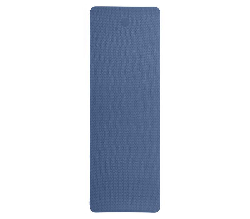 Yogisha Soft & LightYogamatte 183cm 60cm 6mm - Dunkelblau / Hellblau