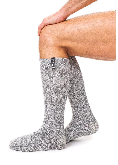 Soxs Soxs Heren Sokken - Grey/Jet Black Knee High
