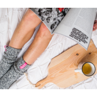 Soxs Damen Socken -  Grey/Bubble Gum Half High